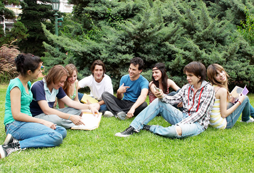 teens in a group